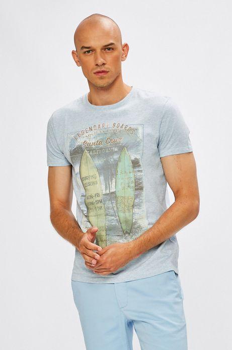 T-shirt męski Desert Island niebieski