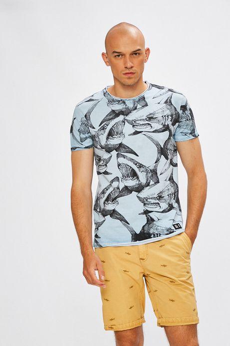 Man's T-shirt męski Antoni Kuźniarz for Medicine niebieski