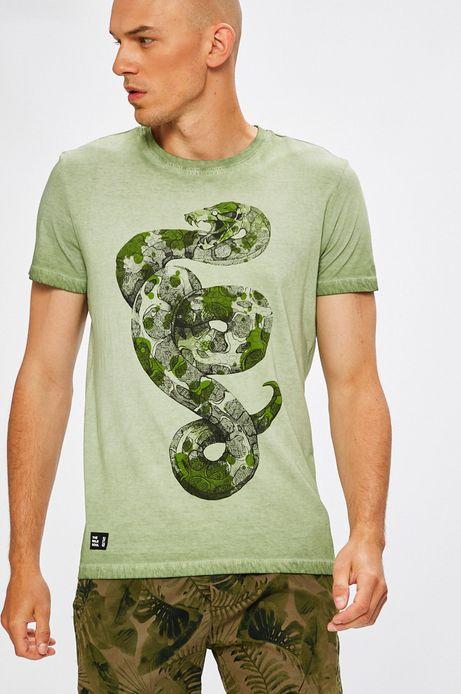 T-shirt męski Antoni Kuźniarz for Medicine zielony