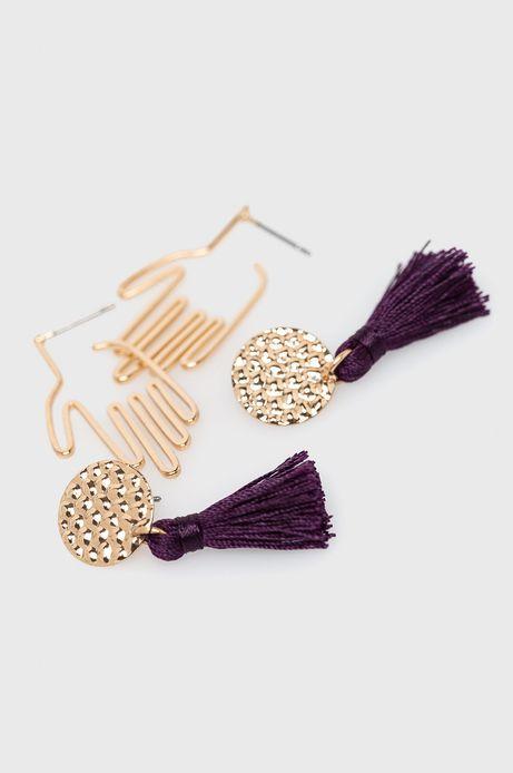Kolczyki damskie złote (2-Pack)