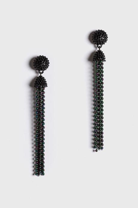 Kolczyki damskie wiszące czarny