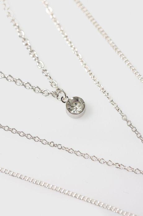 Naszyjnik damski srebrny