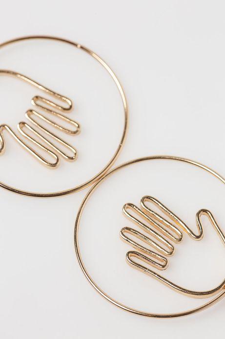 Kolczyki damski wiszące złote