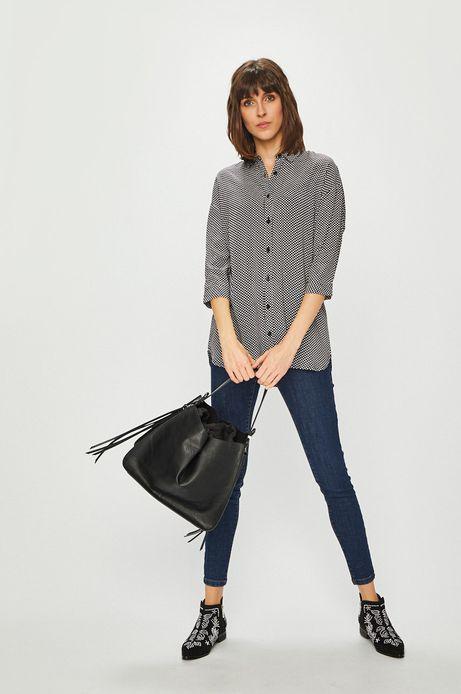 Koszula damska czarna w grochy
