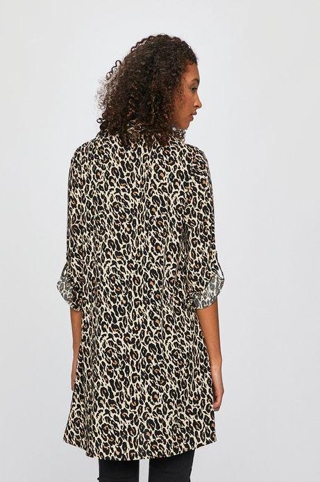 Koszula damska w panterkę beżowa