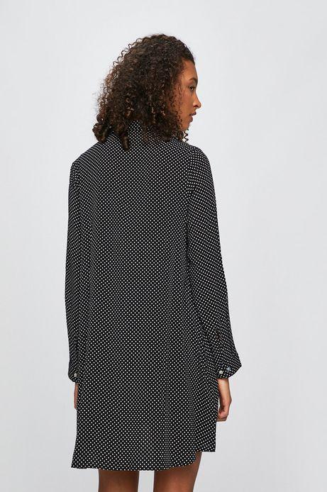 Koszula damska w grochy czarna