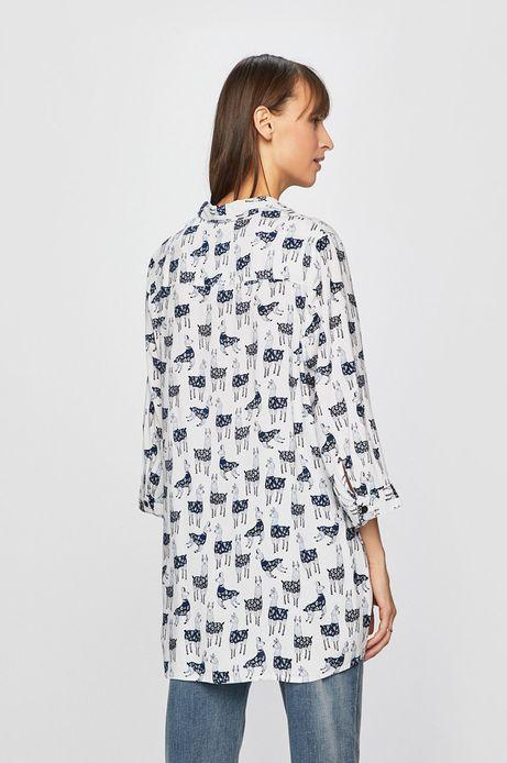 Koszula damska w lamy biała
