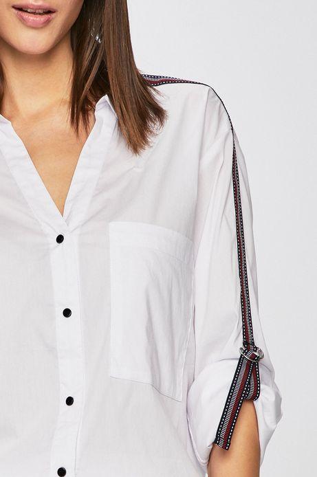 Koszula damska z lampasami biała