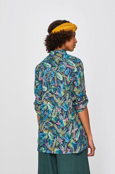 Koszula damska z wzorzystej tkaniny