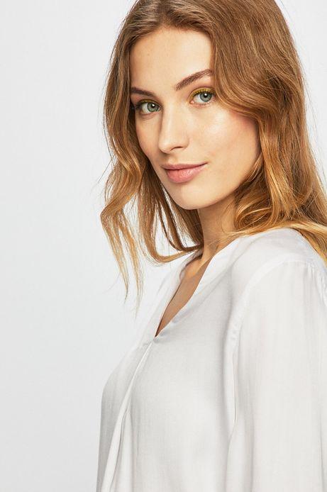 Koszula damska z wywijanymi rękawami biała