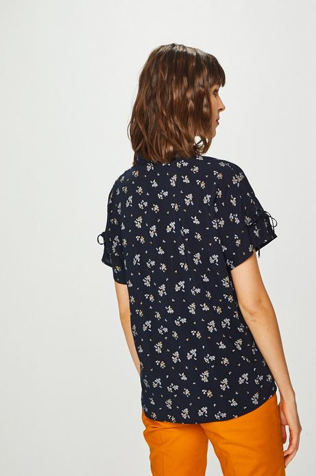 Koszula damska wzorzysta granatowa