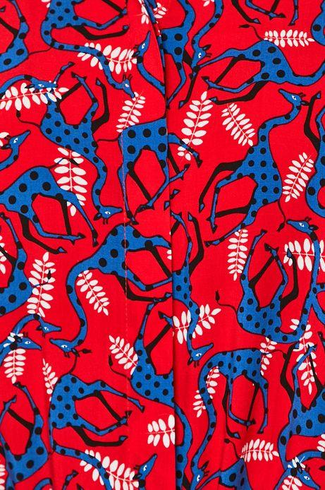 Koszula damska wzorzysta czerwona