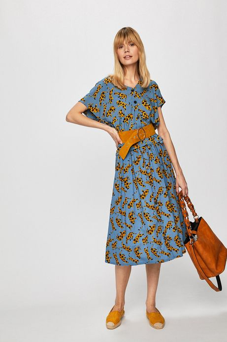 Koszula damska wzorzysta niebieska