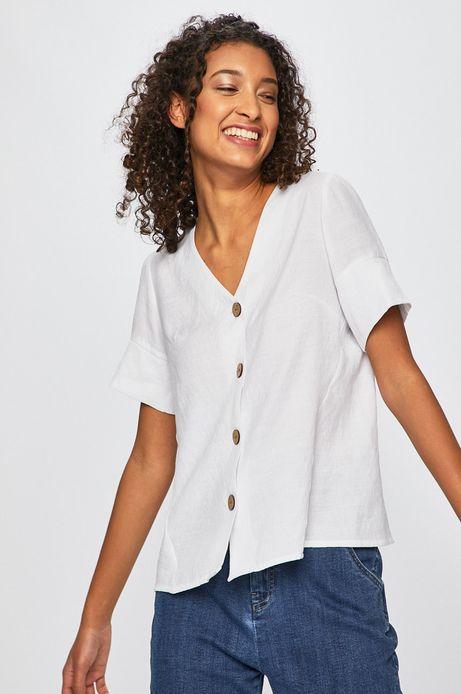 Koszula damska gładka biała