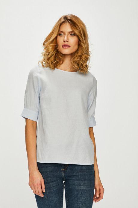 Koszula damska z gładkiej tkaniny niebieska