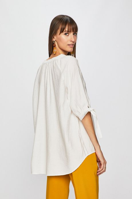Koszula damska z reglanowanym rękawem biała