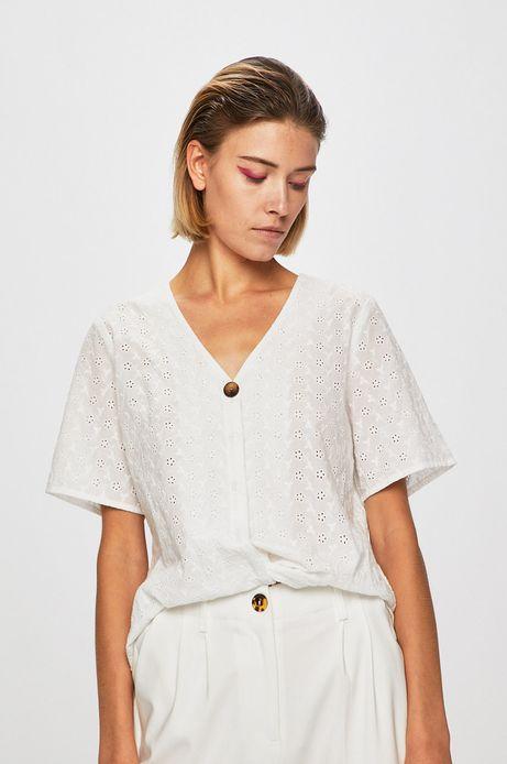 Koszula damska z ozdobnymi haftami biała