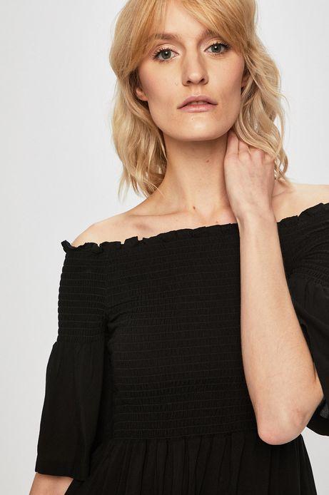 Bluzka damska z odkrytymi ramionami czarna
