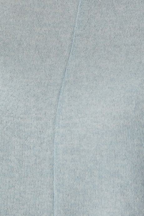Bluza damska z dekoltem typu łódka niebieska