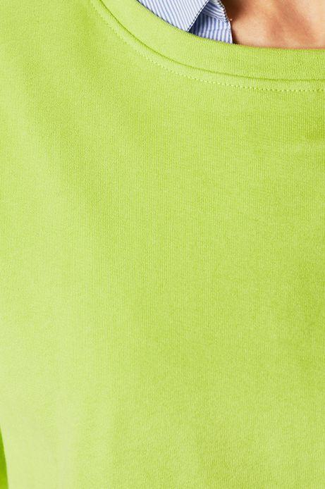 Bluza damska o obniżonej linii ramion zielona