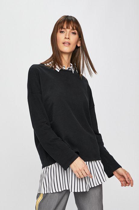 Bluza damska o obniżonej linii ramion czarna
