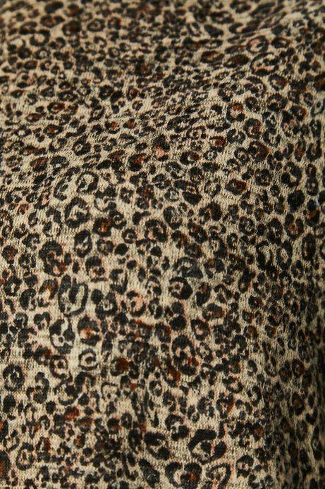 Bluza damska w panterkę beżowa
