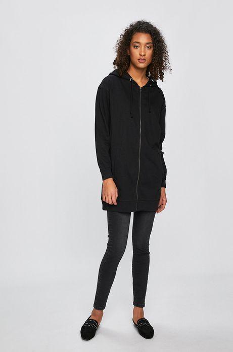 Bluza damska z nadrukiem na plecach czarna