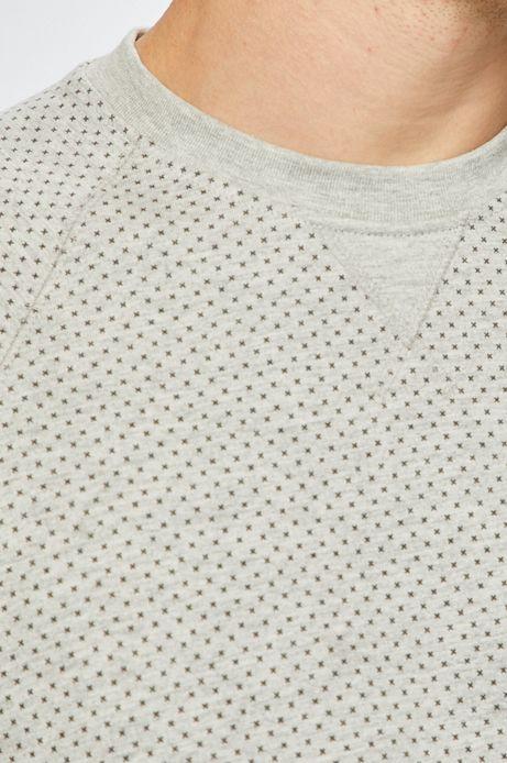 Bluza męska wzorzysta szara