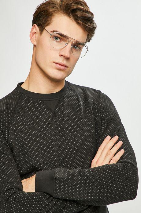 Bluza męska wzorzysta czarna