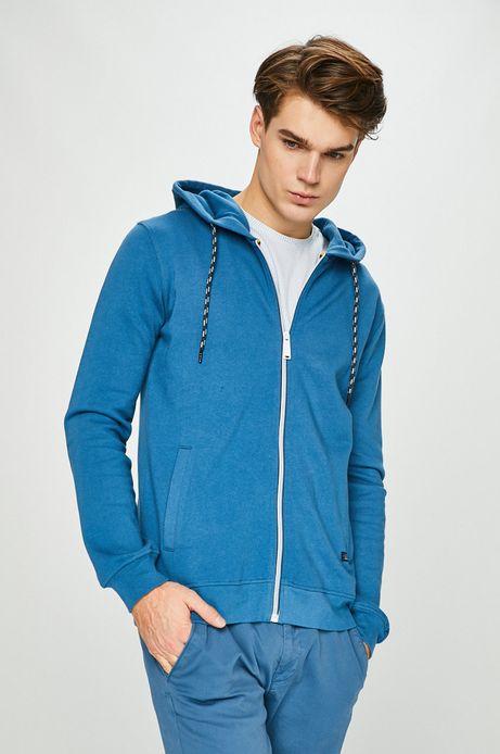 Bluza męska z kapturem niebieska