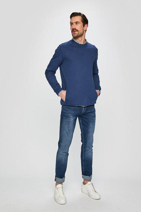 Bluza męska z wsuwanymi kieszeniami granatowa
