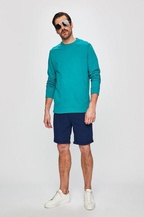 Bluza męska z wsuwanymi kieszeniami turkusowa