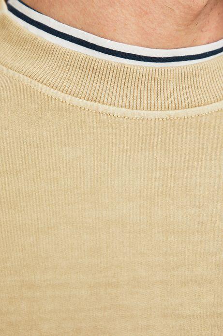 Bluza męska z wsuwanymi kieszeniami beżowa