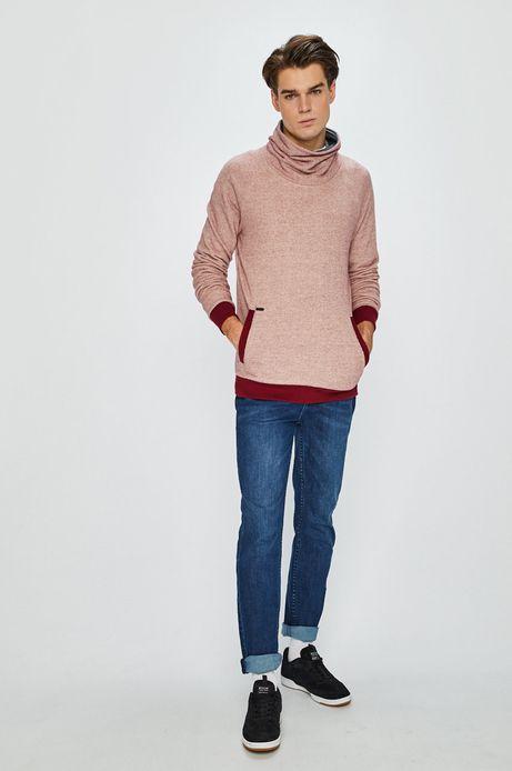 Bluza męska z podwyższonym kołnierzem czerwona