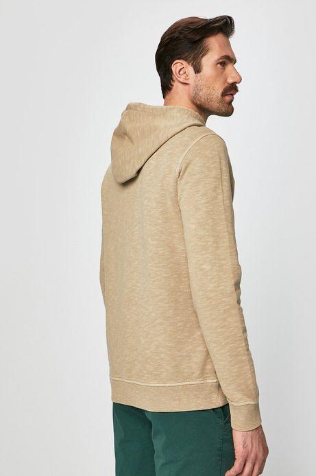 Bluza męska z kapturem beżowa