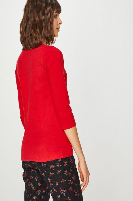 Bluzka damska z rękawem 3/4 czerwona