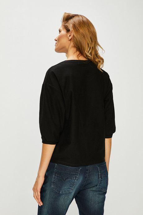 Bluzka damska z obniżoną linią ramion czarna