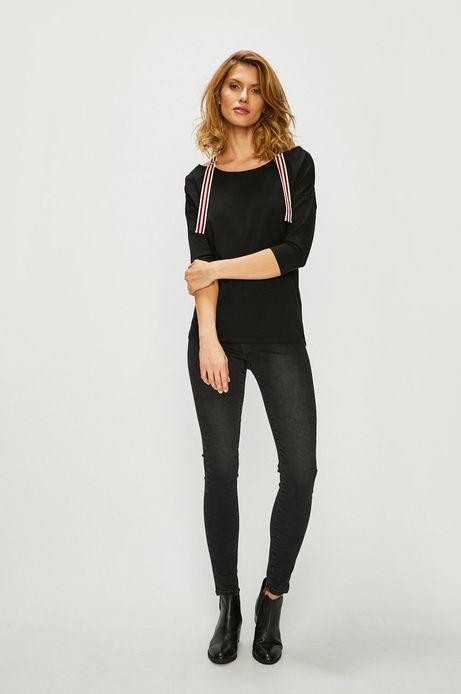 Bluzka damska z szelkami czarna