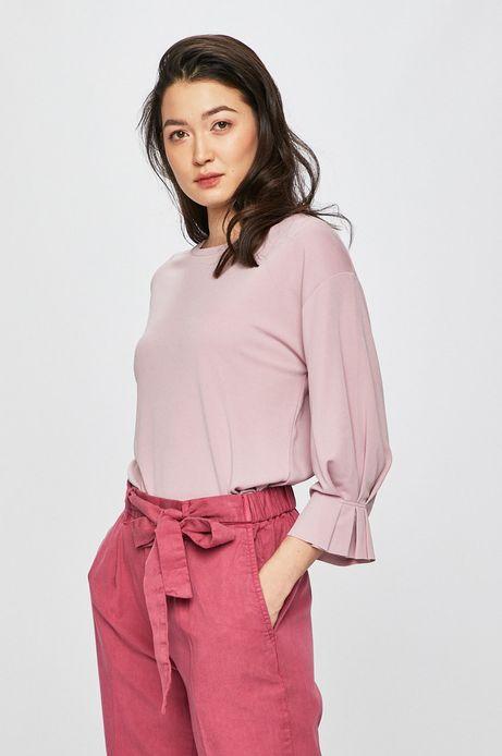 Bluzka damska z rękawami 3/4 różowa