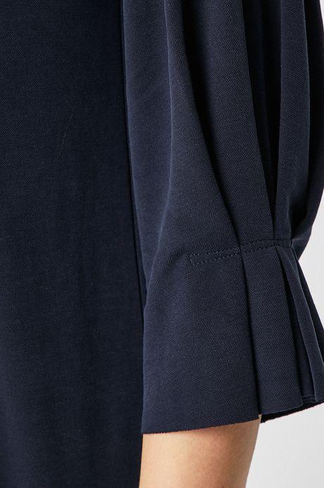 Bluzka damska z rękawami 3/4 granatowa