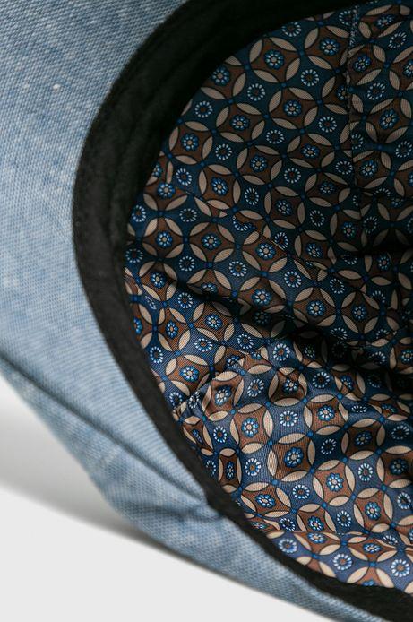Kaszkiet męski lniany niebieski