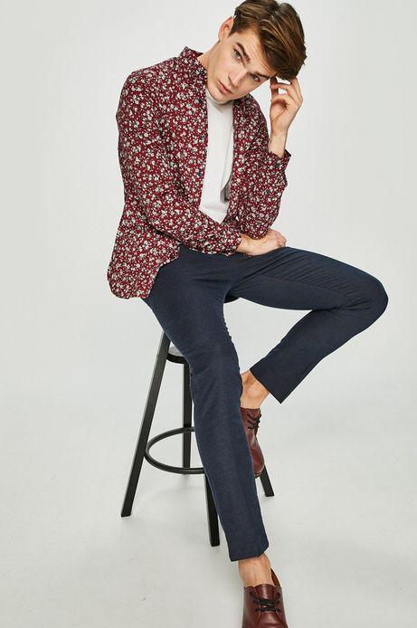 Koszula męska wzorzysta borodwa