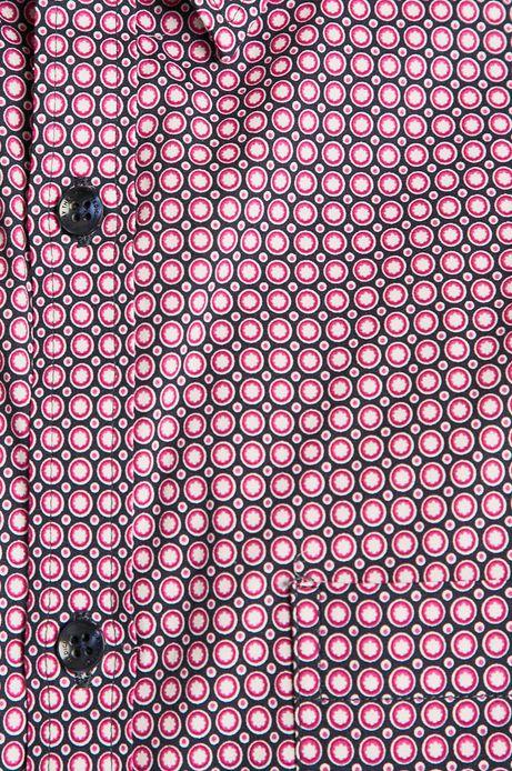 Koszula męska wzorzysta granatowa