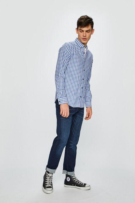 Koszula męska w kratkę niebieska