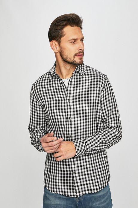 Koszula męska w kratkę szara