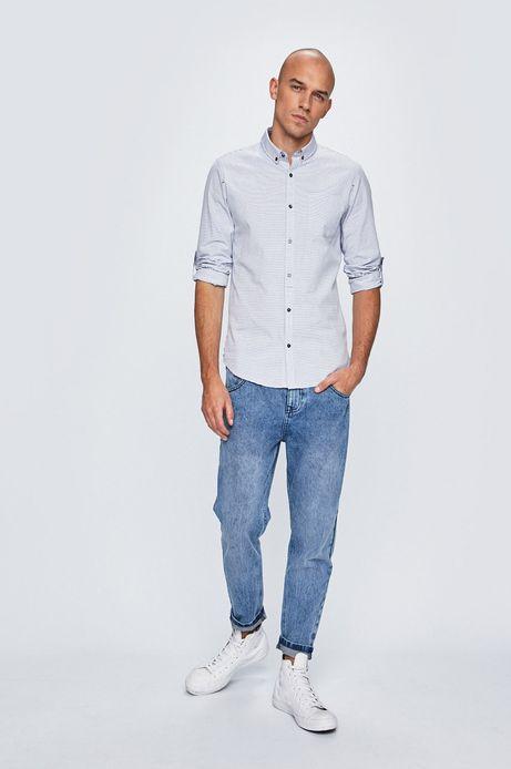 Koszula męska w paski biała