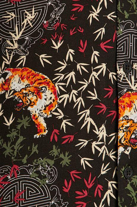 Koszula męska z wzorzystej tkaniny
