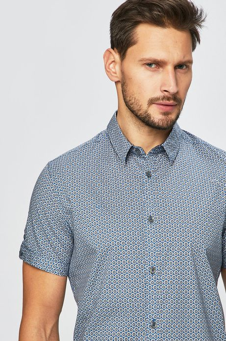Koszula męska w fasonie slim niebieska