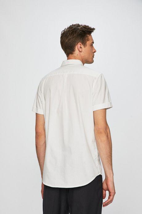 Koszula męska z gładkiej tkaniny biała