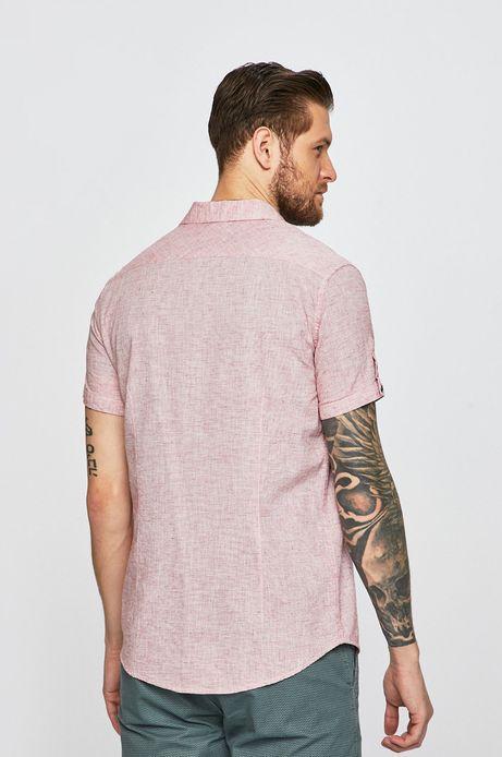 Koszula męska lniana różowa